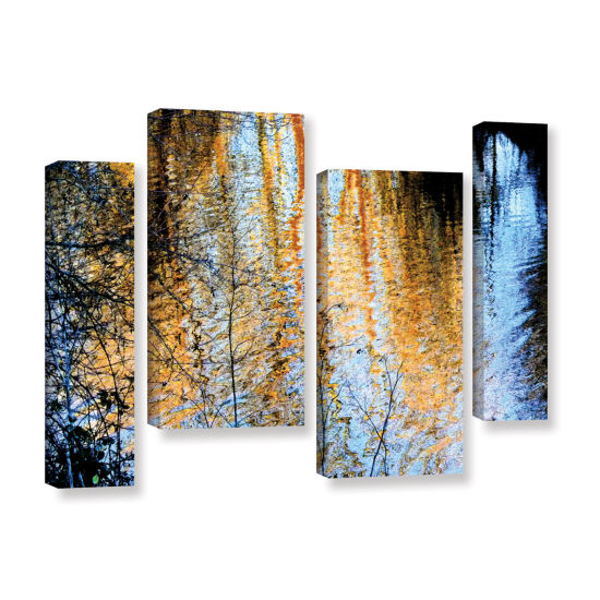 Brushstone Canyon Light (Forest) 4-pc. Gallery Wrapped Staggered Canvas Wall Art