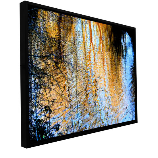 Brushstone Canyon Light (Forest) Gallery Wrapped Floater-Framed Canvas Wall Art