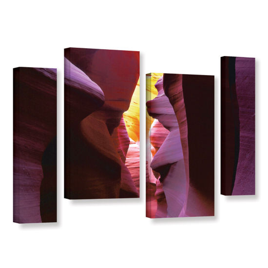 Brushstone Canyon Light 4-pc. Gallery Wrapped Staggered Canvas Wall Art
