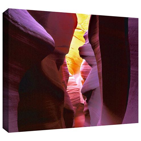 Brushstone Canyon Light Gallery Wrapped Canvas Wall Art