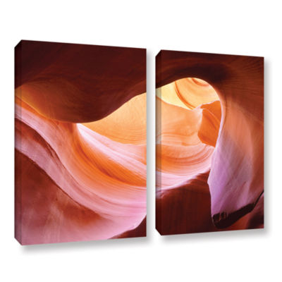 Brushstone Canyon Of The Navajo 2-pc. Gallery Wrapped Canvas Wall Art