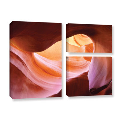 Brushstone Canyon Of The Navajo 3-pc. Flag Gallery Wrapped Canvas Wall Art