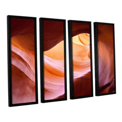 Brushstone Canyon Of The Navajo 4-pc. Floater Framed Canvas Wall Art