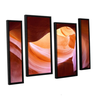 Brushstone Canyon Of The Navajo 4-pc. Floater Framed Staggered Canvas Wall Art