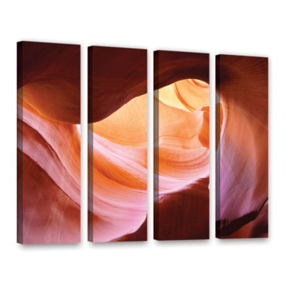 Brushstone Canyon Of The Navajo 4-pc. Gallery Wrapped Canvas Wall Art