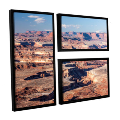 Brushstone Canyonlands Horizontal 3-pc. Flag Floater Framed Canvas Wall Art
