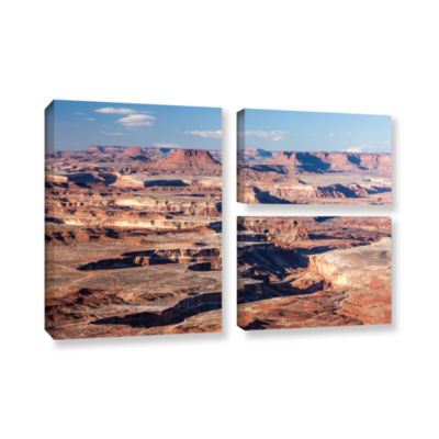 Brushstone Canyonlands Horizontal 3-pc. Flag Gallery Wrapped Canvas Wall Art