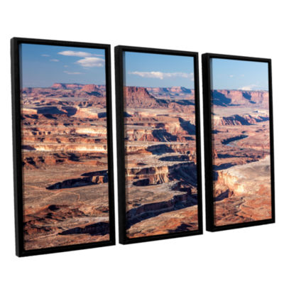 Brushstone Canyonlands Horizontal 3-pc. Floater Framed Canvas Wall Art