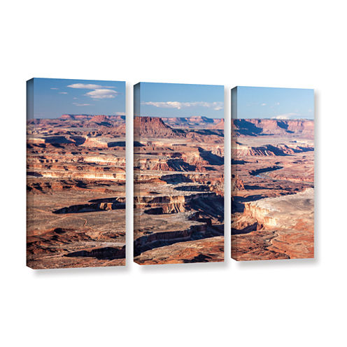 Brushstone Canyonlands Horizontal 3-pc. Gallery Wrapped Canvas Wall Art