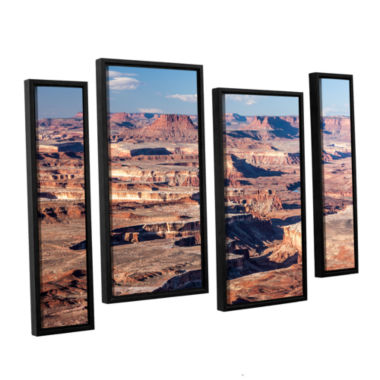 Brushstone Canyonlands Horizontal 4-pc. Floater Framed Staggered Canvas Wall Art