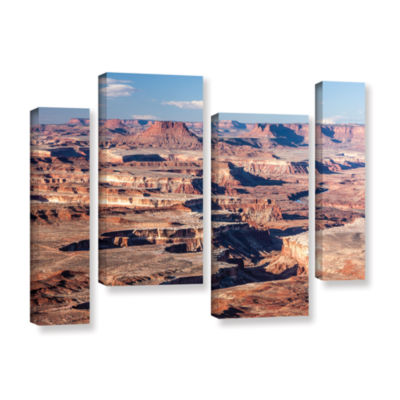 Brushstone Canyonlands Horizontal 4-pc. Gallery Wrapped Staggered Canvas Wall Art