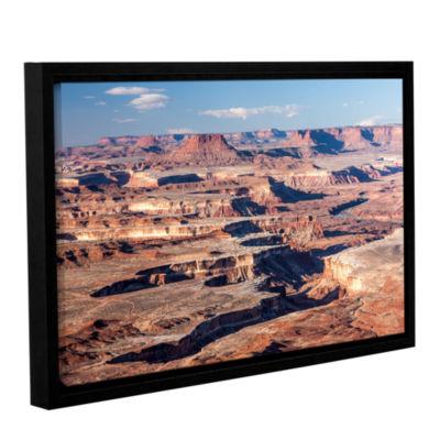 Brushstone Canyonlands Horizontal Gallery WrappedFloater-Framed Canvas Wall Art