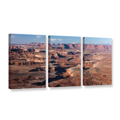 Brushstone Canyonlands Panoramic 3-pc. Gallery Wrapped Canvas Wall Art
