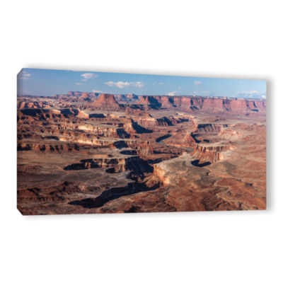 Brushstone Canyonlands Panoramic Gallery Wrapped Canvas Wall Art