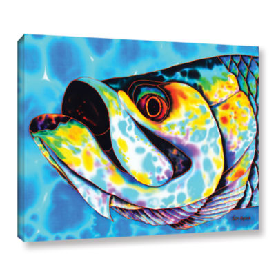 Brushstone Caribbean Tarpon Gallery Wrapped CanvasWall Art