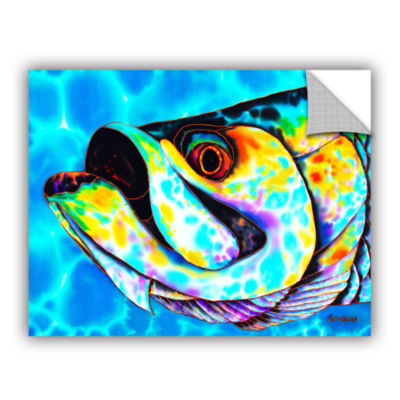 Brushstone Caribbean Tarpon Removable Wall Decal