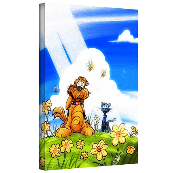 Brushstone Cat And Dog Gallery Wrapped Canvas WallArt
