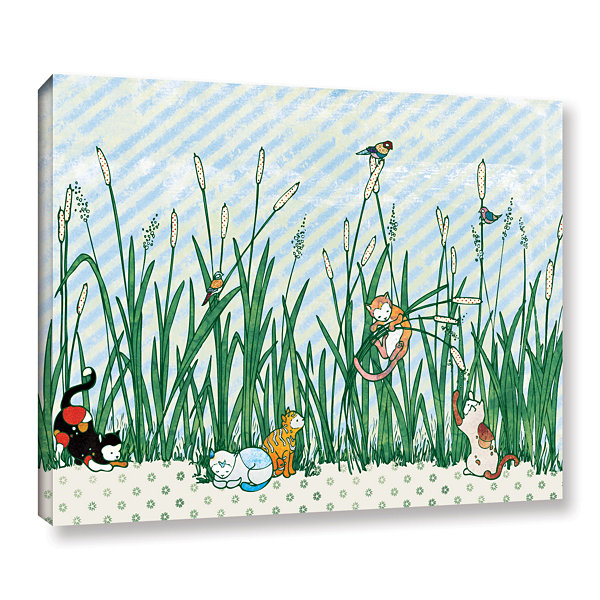 Brushstone Cattails Gallery Wrapped Canvas Wall Art