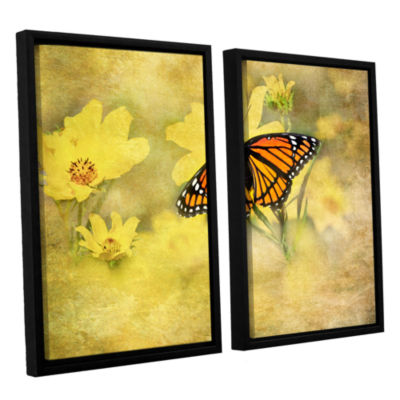 Brushstone Butterfly (Flowers) 2-pc. Floater Framed Canvas Wall Art