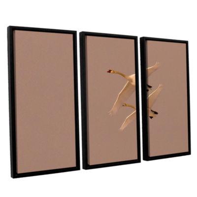 Brushstone Brushes 009 3-pc. Floater Framed Canvas Wall Art