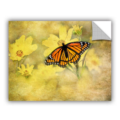 Brushstone Butterfly (Flowers) Removable Wall Decal