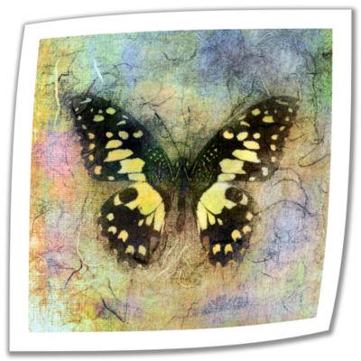Brushstone Butterfly (Yellow) Canvas Wall Art