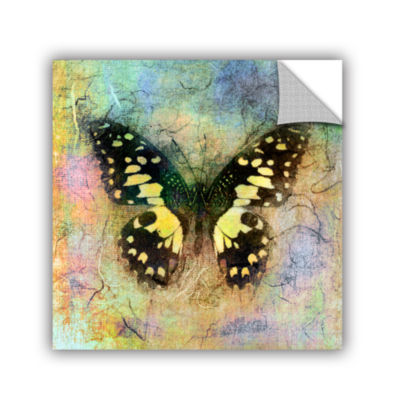 Brushstone Butterfly (Yellow) Removable Wall Decal