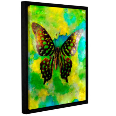 Brushstone Butterfly Gallery Wrapped Floater-Framed Canvas Wall Art