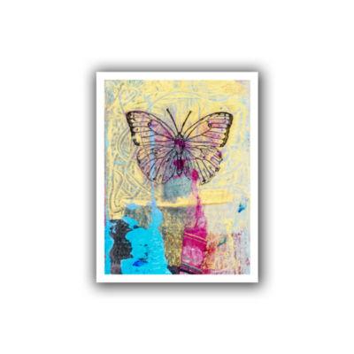 Brushstone Butterfly II Canvas Wall Art