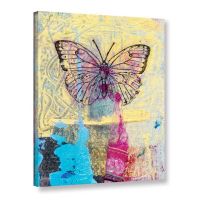 Brushstone Butterfly II Gallery Wrapped Canvas Wall Art