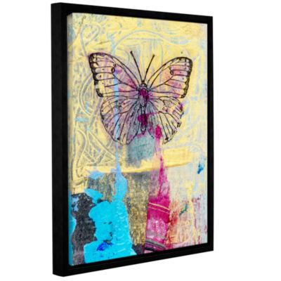 Brushstone Butterfly II Gallery Wrapped Floater-Framed Canvas Wall Art