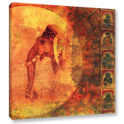 Brushstone Buddhist Elephant Gallery Wrapped Canvas Wall Art