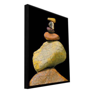 Brushstone Cairn Study Gallery Wrapped Floater-Framed Canvas Wall Art