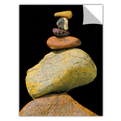 Brushstone Cairn Study Removable Wall Decal