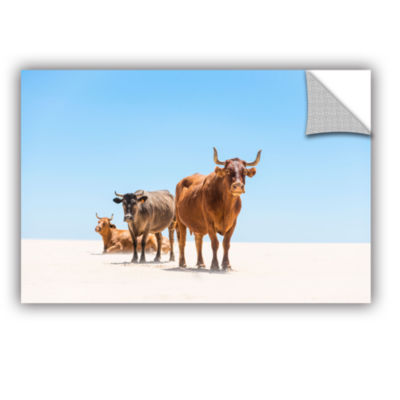 Brushstone Bulls In The Desert Removable Wall Decal