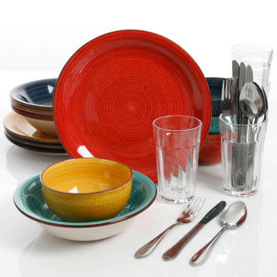 Gibson Color Speckle 28-pc. Dinnerware Set