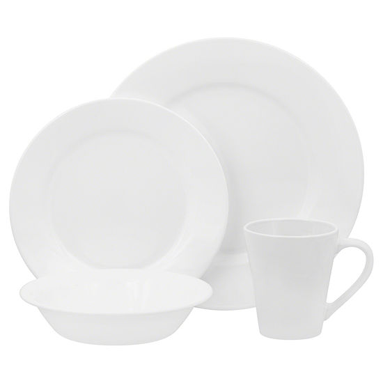 Corelle Boutique Shimmering White 16-pc. Dinnerware Set - JCPenney