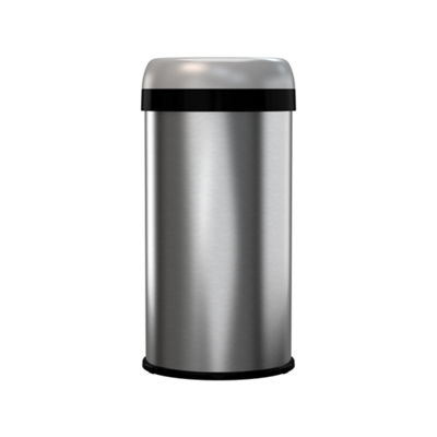 halo™ Commercial Grade Dual-Deodorizer  Fingerprint-Proof Stainless Steel Trash Can, 50 Liter / 13 Gallon