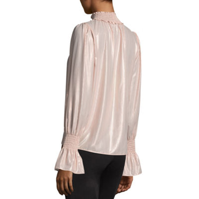Worthington mock Neck Blouse