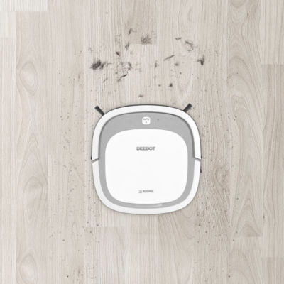 ECOVACS DEEBOT SLIM2 Robotic Vacuum Cleaner with Dry Mopping Feature