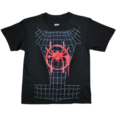 Short Sleeve Crew Neck Spiderman T-Shirt Boys