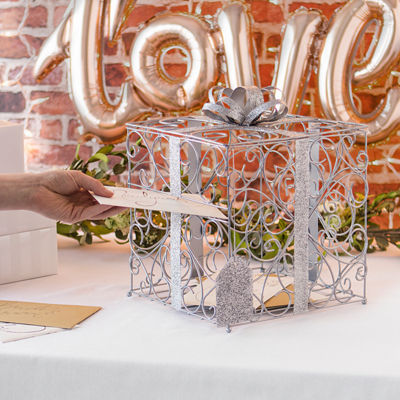 """Cathy's Concepts Metallic Rose Gold Reception Gift Card Holder"""