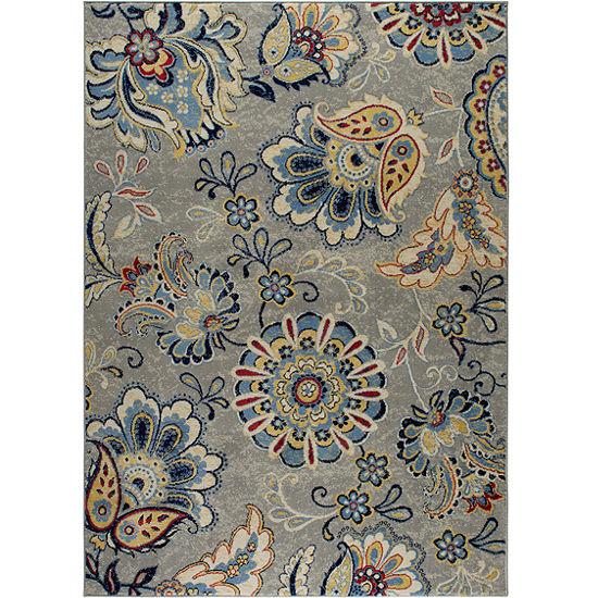 Home Dynamix Tremont Lincoln Floral Rectangular Rug