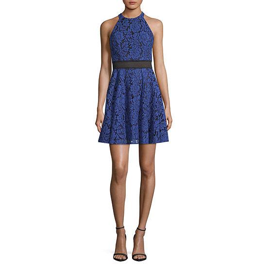 City Triangle-Juniors Sleeveless Fit & Flare Dress