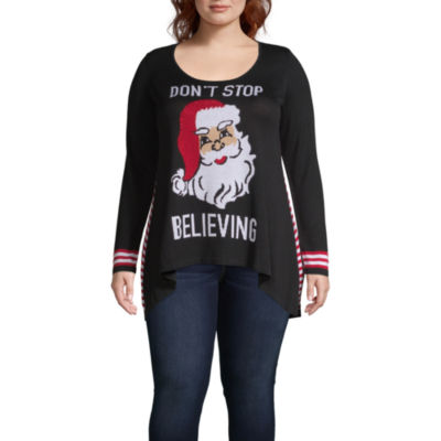 Unity One World Santa Pullover Sweater - Plus