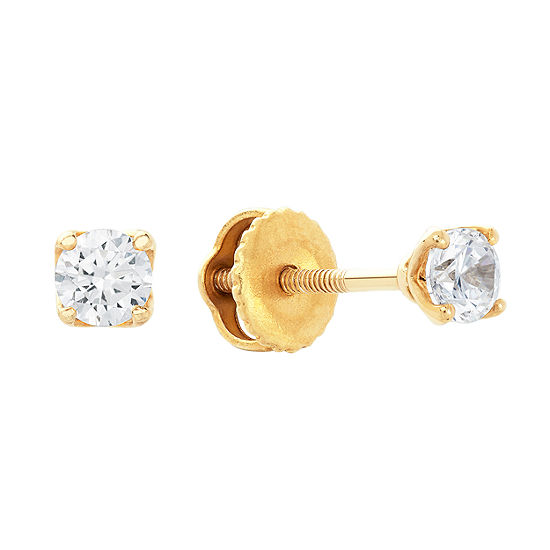 Grown With Love 1 4 Ct Tw Lab Grown White Diamond 14k Gold 32mm Stud Earrings