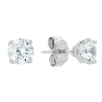 Grown With Love 1 CT. T.W. Lab Grown White Diamond 14K White Gold 4.5mm Stud Earrings