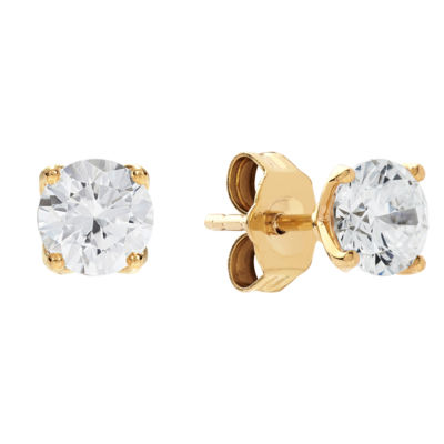 Grown With Love 1 CT. T.W. Lab Grown White Diamond 14K Gold 4.5mm Stud Earrings