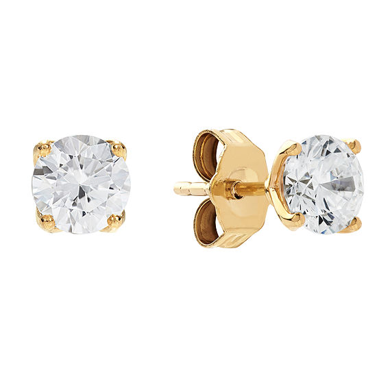 Grown With Love 1 CT. T.W. Lab Grown White Diamond 14K Gold 4.5mm Stud Earrings