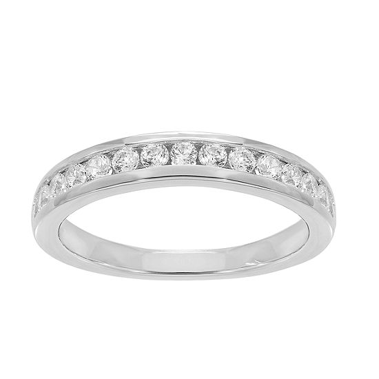 Grown With Love 1/2 CT. T.W. Lab Grown White Diamond 14K White Gold Wedding Band